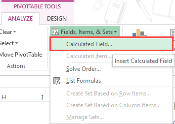Pivot Table Calculated Field - Calculated Field