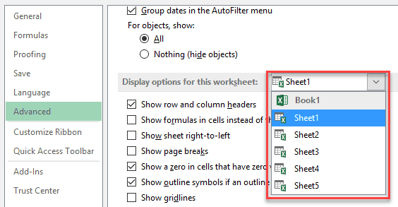 Show Formulas in Excel Instead of the Values - sheet