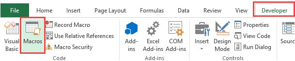 Highlight Blank Cells in Excel - run - macros