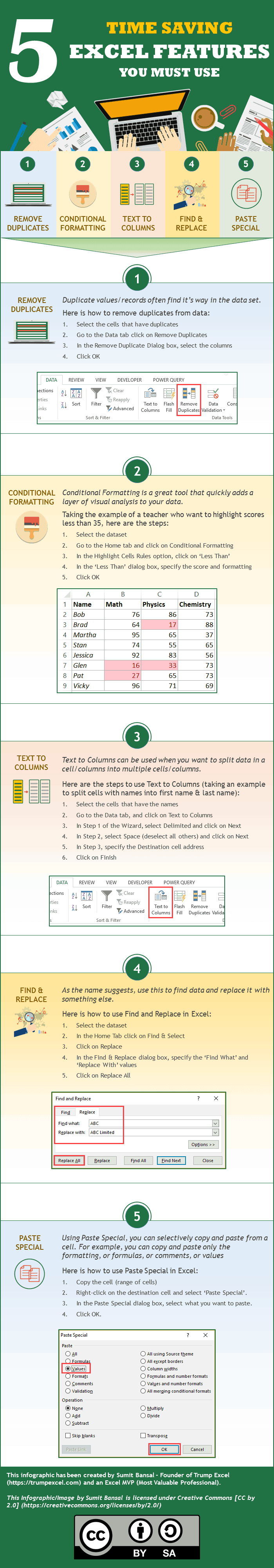 Useful Excel Features