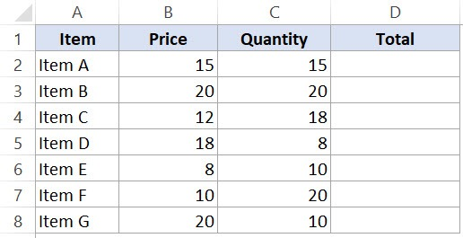 Relative Cell References in Excel Spreadsheets - Data