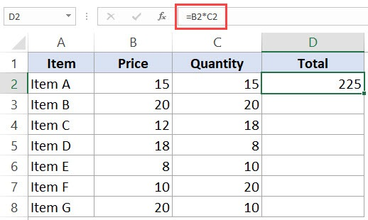 Relative Cell References in Excel Spreadsheets - Formula