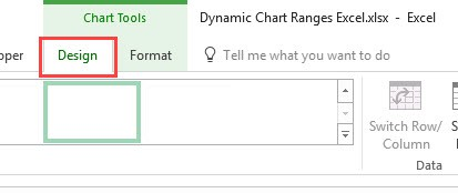 Design tab - Contextual tab that appears when a chart is selected