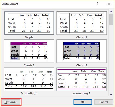 Excel AutoFormat - A One Click Data Formatting Trick