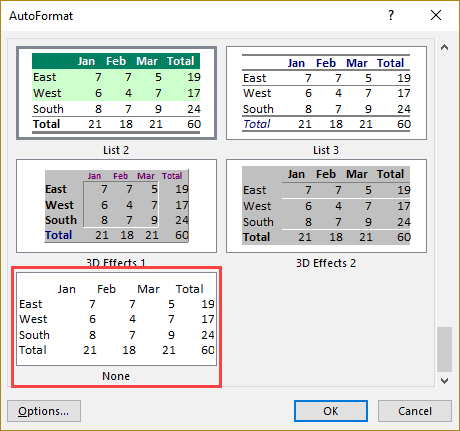 Remove All formatting in Excel