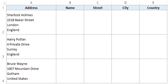 How to Split Multiple Lines in a Cell into a Separate Cells