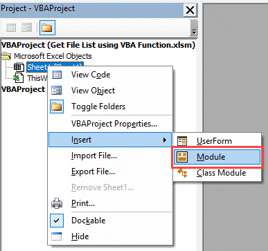 Get the List of File Names from a Folder in Excel (with and without VBA)