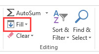 Fill Series Option in the editing group