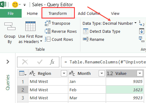 How to Unpivot Data in Excel using Power Query (aka Get