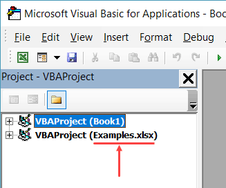 Worksheets Object in Excel VBA - file name in project explorer