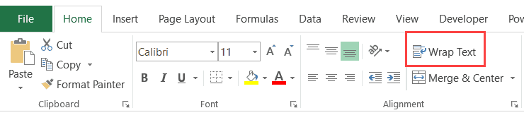 Excel Interview Questions - Wrap Text