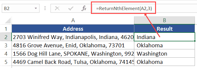 VBA Split Function - address element by number