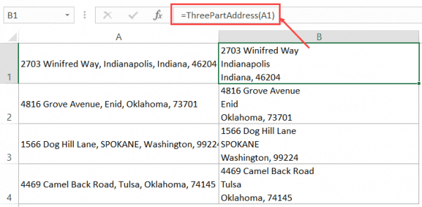 VBA Split Function - address in separate lines formula