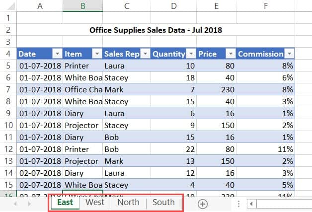 Combine Data From Multiple Worksheets into a Single