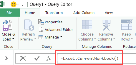 Combine Multiple sheets - Excel CurrentWorkbook formula