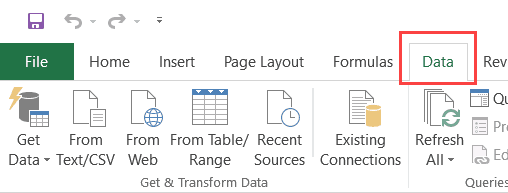 Merge Tables using Power Query - Data tab