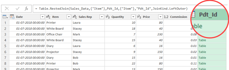 Merge Tables using Power Query - Extra column when combining data