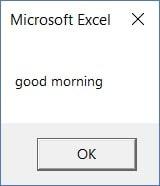 Excel VBA LCase Example 1