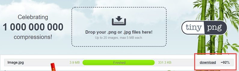 File Size reduced by TinyPNG
