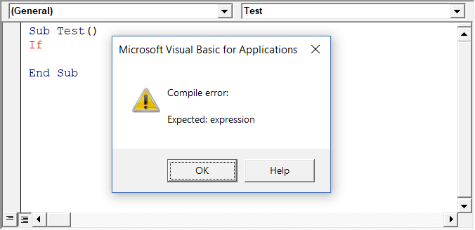 Auto Syntax Check in Visual Basic Editor Options