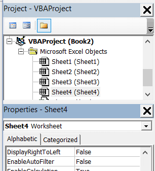 Properties Window is docked below Project Explorer