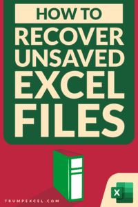 How to Recover Unsaved Excel Files 2