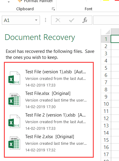 how to recover unsaved excel spreadsheet