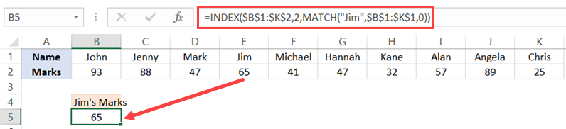 Using Index Match with Horizontal Data