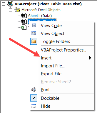 Hover the Cursor on Insert