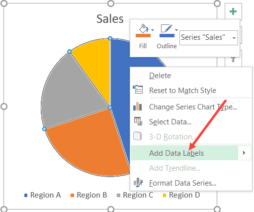 Add Data Labels to the chart