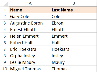 Sorted based on last name