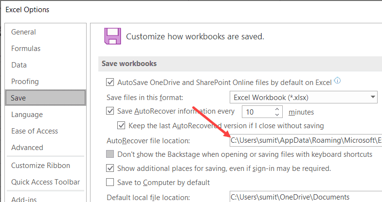 Autorecover-file-location Flip On AutoSave in Excel (An Straightforward Information)