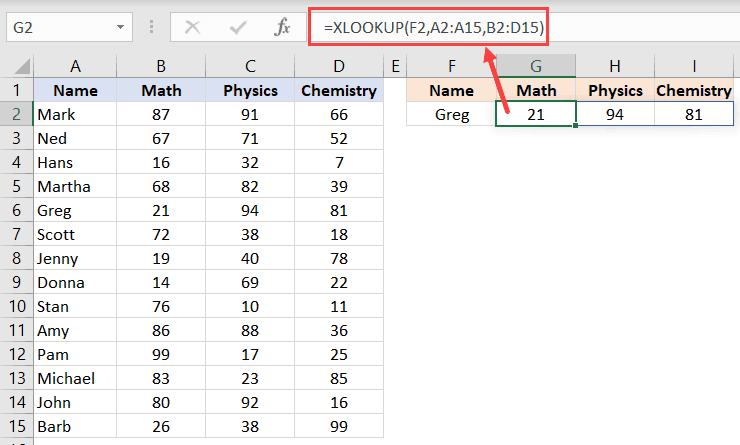 XLOOKUP formula to get the entire record