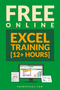 Free Online Excel Training 2