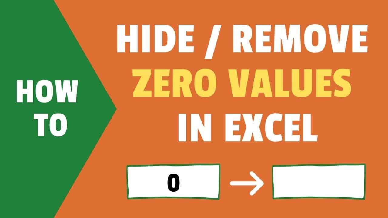 Hide Zero Values in Excel   Make Cells Blank If the Value is 20