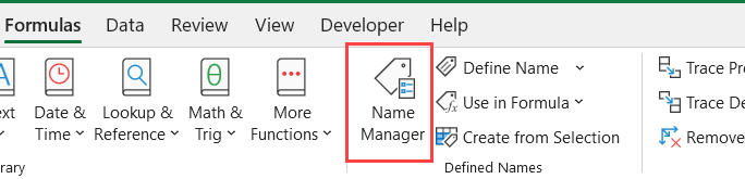 Click on the Name Manager
