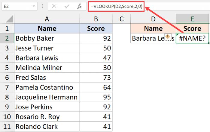 Misspelled named range in the formula